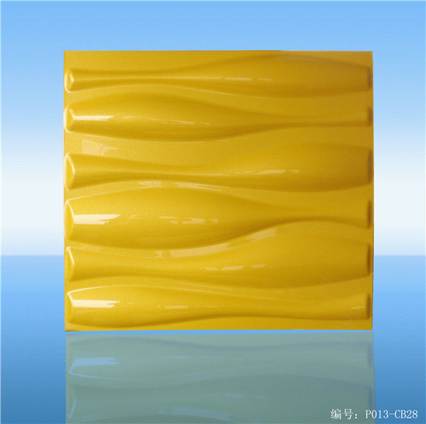 Bamboo Fiber 3D PVC Wall Panels , PVC Paintable 3D Wall Panel Tiles For Living Room